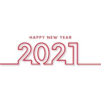 Cartão de feliz ano novo com design plano