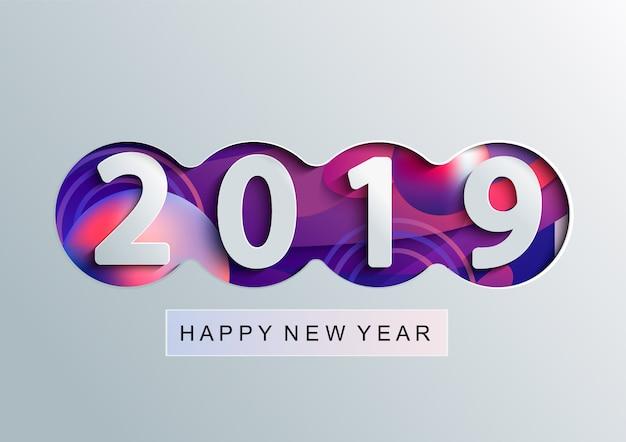 Cartão de feliz ano novo criativo de 2019