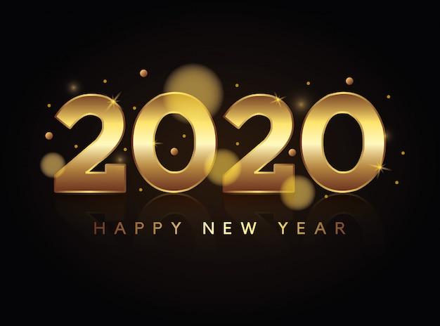 Cartão de feliz ano novo vetor