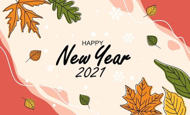 Cartão de feliz ano novo.
