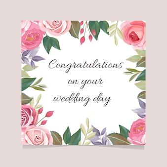 Cartão de feliz casamento