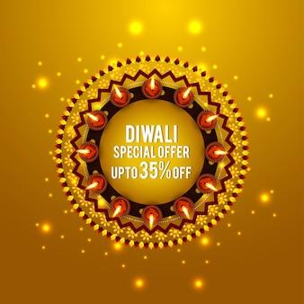 Cartão de feliz celebração de diwali, o festival da luz