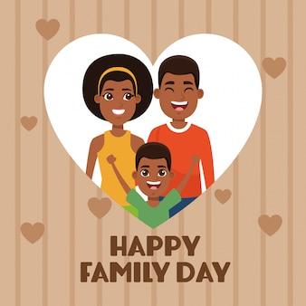 Cartão de feliz dia da família
