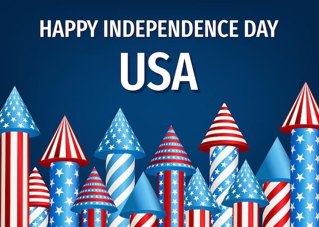 Cartão de feliz dia da independência dos eua