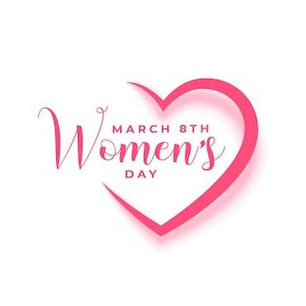 Cartão de feliz dia da mulher em estilo papel