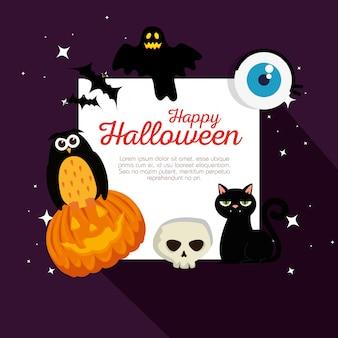 Cartão de feliz dia das bruxas