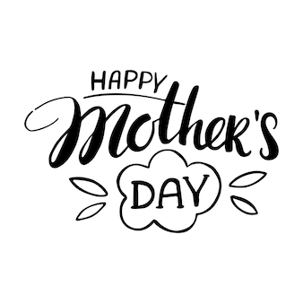 Cartão de feliz dia das mães. inscrição de caligrafia de vetor.
