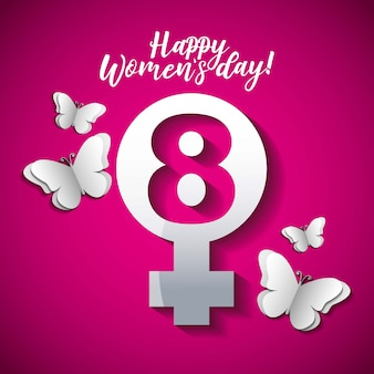 Cartão de feliz dia das mulheres