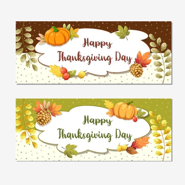 Cartão de feliz dia de ação de graças ou flyer com noz