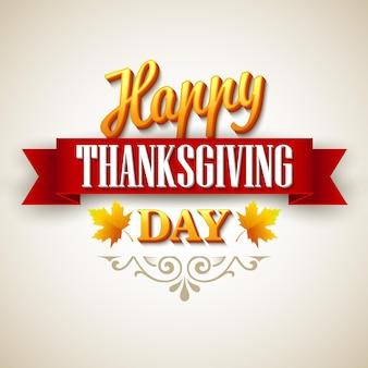 Cartão de feliz dia de ação de graças