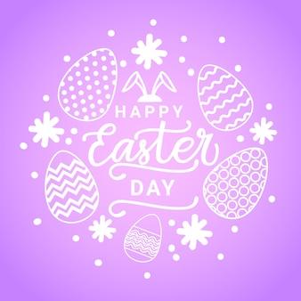 Cartão de feliz dia de páscoa feliz com ovos