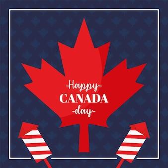 Cartão de feliz dia do canadá