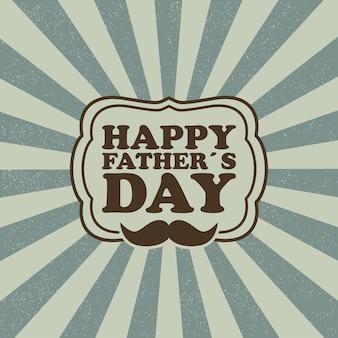 Cartão de feliz dia do pai para modelo de pai para cartão postal de banner de cartaz