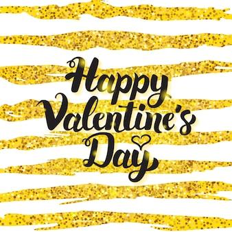 Cartão de feliz dia dos namorados manuscrita. ilustração em vetor de cartão postal de saudação de amor com caligrafia.
