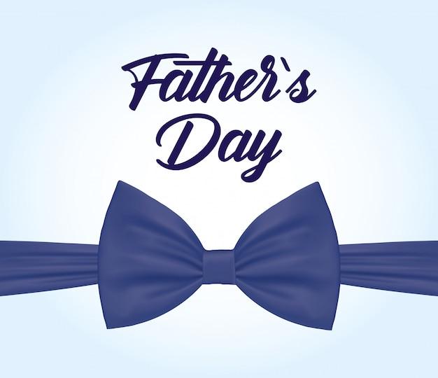 Cartão de feliz dia dos pais com gravata borboleta