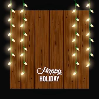 Cartão de feliz feriado e decoração