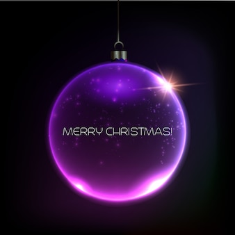 Cartão de feliz natal bauble