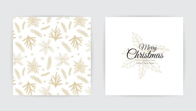 Cartão de feliz natal com árvore de ano novo