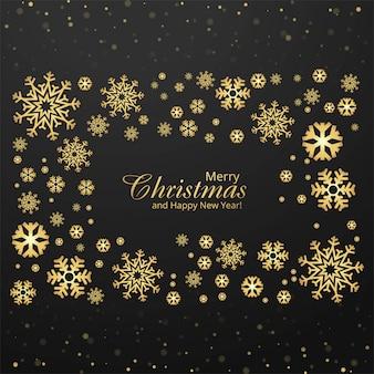 Cartão de feliz natal com flocos de neve