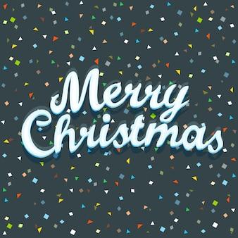 Cartão de feliz natal. conceito festivo
