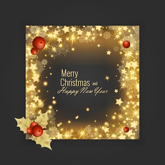 Cartão de feliz natal e feliz ano novo de 2022