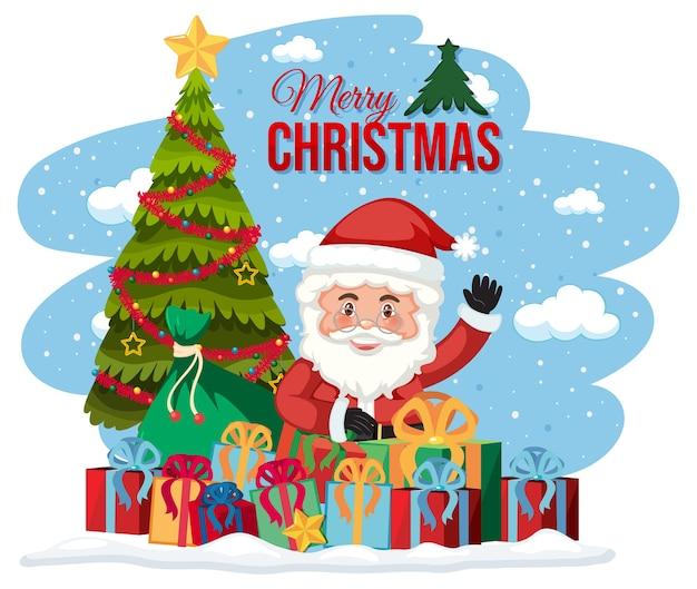 Cartão de feliz natal isolado