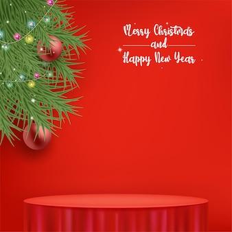 Cartão de feliz natal ou convite com toalha de mesa