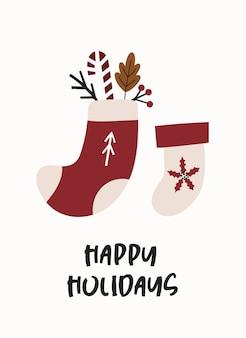 Cartão de feliz natal.