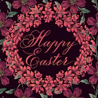 Cartão de feliz páscoa. cartão de páscoa. ilustração vetorial