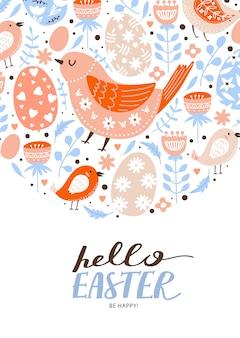 Cartão de feliz páscoa
