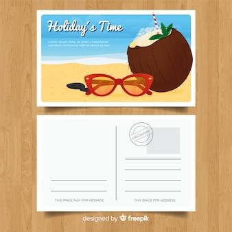 Cartão de férias de verão realista