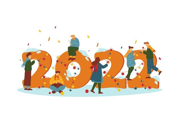 Cartão de férias para banner de convite de festa de ano novo