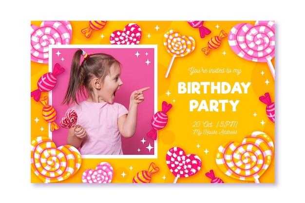 Cartão de festa de aniversário pronto para imprimir