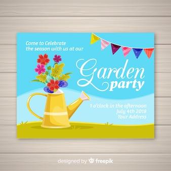 Cartão de festa de jardim