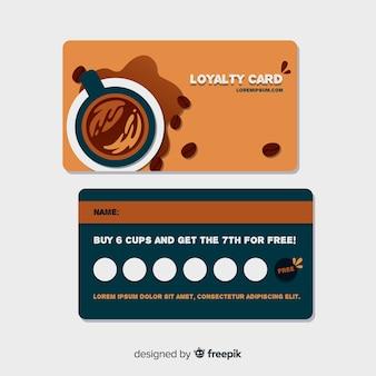 Cartão de fidelidade de café com estilo moderno
