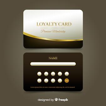 Cartão de fidelidade premium com estilo dourado