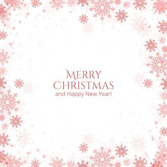 Cartão de flocos de neve de natal e ano novo