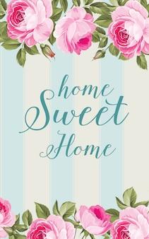 Cartão de flor em casa.