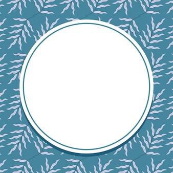 Cartão de flor fofa com círculo em branco