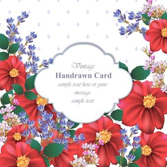 Cartão de flores de camomila bonito