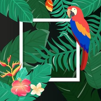 Cartão de flores tropicais