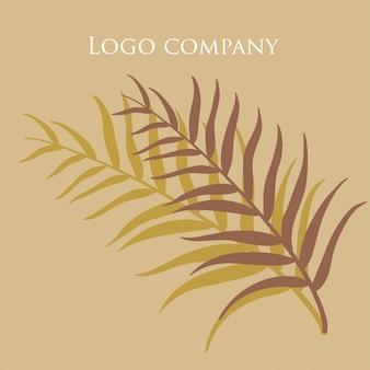 Cartão de folha de coco ícone abstrato. no fundo isolado. arte elegante. ilustração a preto e branco. design de decoração de luxo.