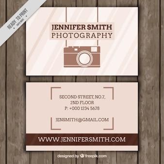 Cartão de fotografia de negócios com elementos do vintage
