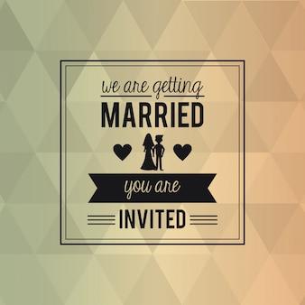 Cartão de fundo abstrato colorido do casamento