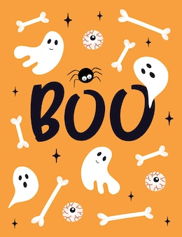 Cartão de halloween.