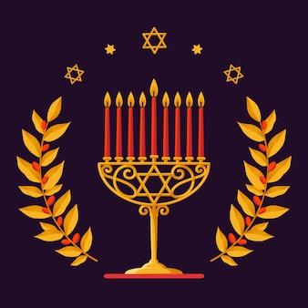 Cartão de hanukkah - feliz saudação de hanukkah