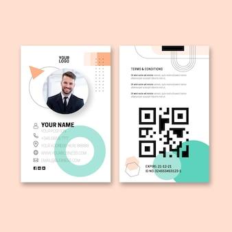 Cartão de identidade comercial geral