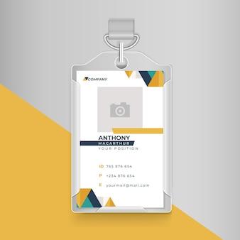 Cartão de identidade comercial