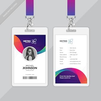 Cartão de identidade da empresa