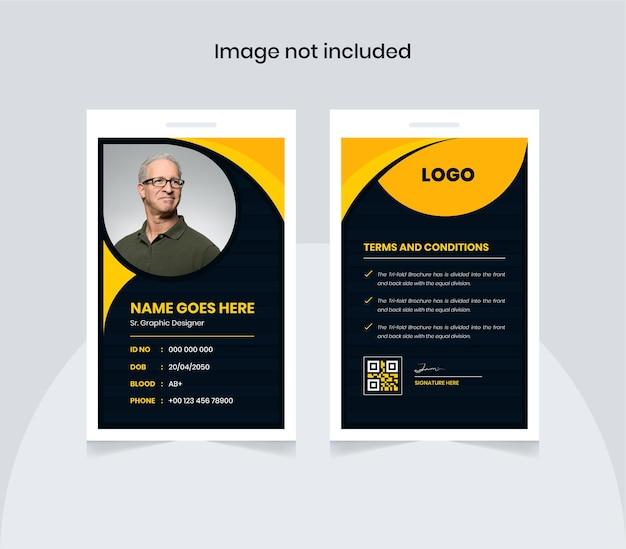 Cartão de identificação abstrato do escritório colorido e criativo design frente e verso cartões de identificação para coisas da empresa Vetor Premium